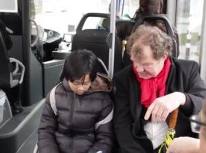 Siep met begeleiding in het openbaar vervoer